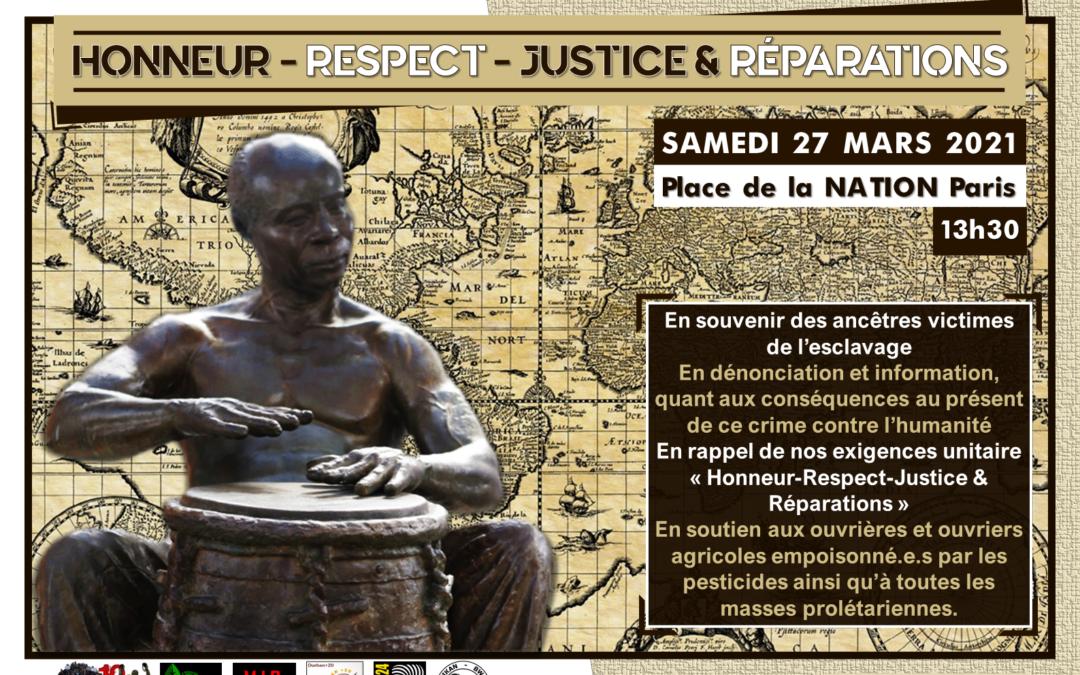 Annulé – Action – Rassemblement «Honneur-Respect-Justice et Réparations»